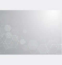 abstract white geometrical background design vector image