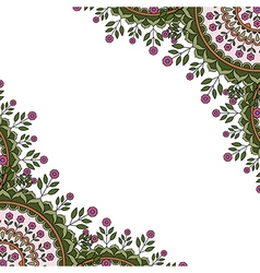 Banner with round floral ornament vector image