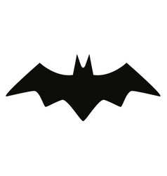 Bat black silhouette isolated icon vector