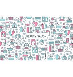 Beaty salon banner vector