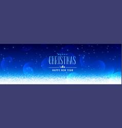 Beautiful christmas snowfall blue background vector