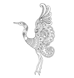 Beautifull bird vector image