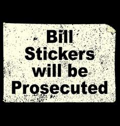 bill stickers vector image