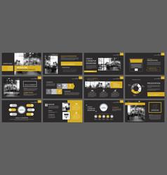 Black gold presentation templates and vector