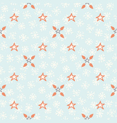 blue festive star snow flake lattice winter vector image