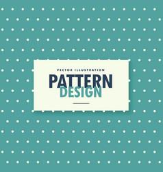 blue vintage color polka background vector image