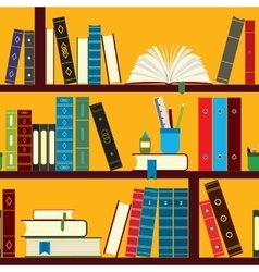 Book stand pattern vector
