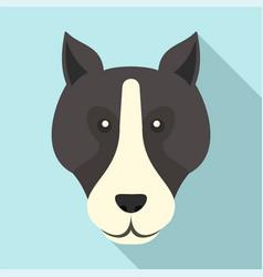 bulldog head icon flat style vector image