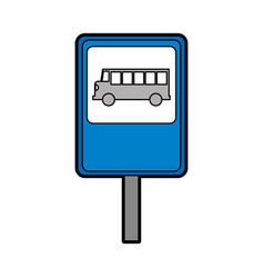 bus stop sign isolated icon vector image