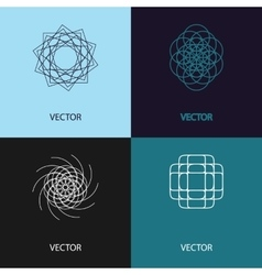 Collection of logo design templates and vector image
