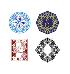 collection of symbols ethnic vector image