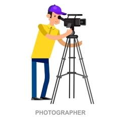 cool detailed character Photographer vector image