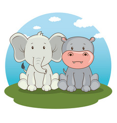 cute adorable animal cartoon vector image vector image