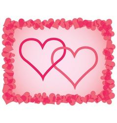 Day of Valentine background vector
