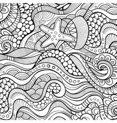 Decorative ethnic background vector