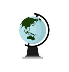earth globe asia continent design vector image