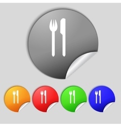 Eat sign icon Cutlery symbol Fork and knife Set vector image