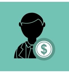 economics concept design vector image