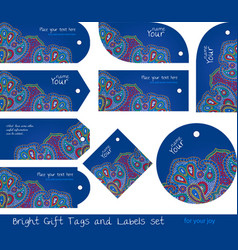 floral tags set for gifts and goods vector image