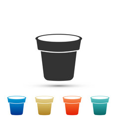 flower pot icon isolated on white background vector image