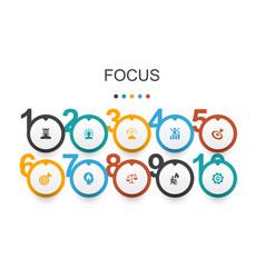 Focus infographic design templatetarget vector