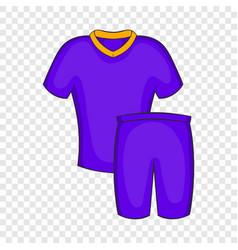 Football uniforms icon cartoon style vector