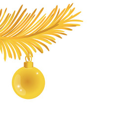 gold garland with circle ball decoration to vector image
