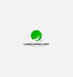 Green landscaping natural and abstract logo vector
