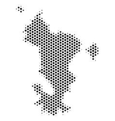 Hexagonal mayotte island map vector