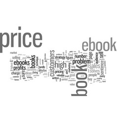 How to price your ebook vector