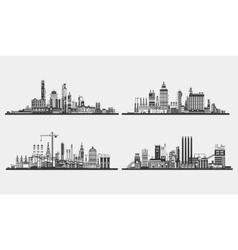 Industrial plant or buildingfactory exterior view vector image