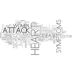 Is it a heart attack signs and symptoms text vector