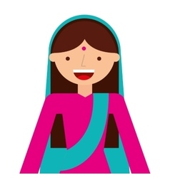 islam woman character isolated icon vector image