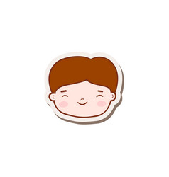 kid face icon vector image