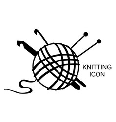 Knitting icon vector