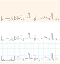 Manchester hand drawn skyline vector