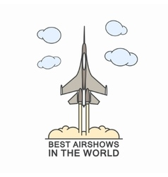 military airplane in sky vector image