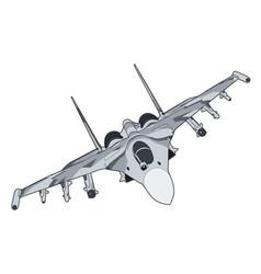 Modern russian jet fighter aircraft vector
