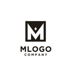 monogram initial letter m square diamond logo vector image