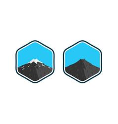 mountain logo inspirations designs vector image