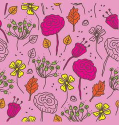 Naive flowers-flowers in bloom seamless repeat vector