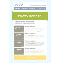 Newsletter business template vector