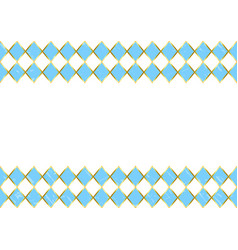 Oktoberfest background with border of blue squares vector