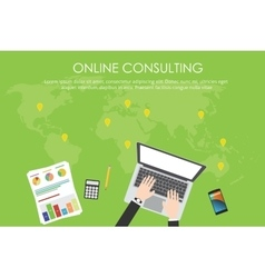 Online consulting business vector