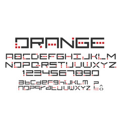 original alphabet uppercase lowercase vector image