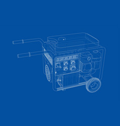 outline portable gasoline generator vector image