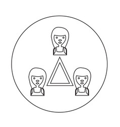 people network icon vector image