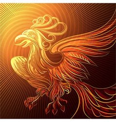Phoenix in a flame vector