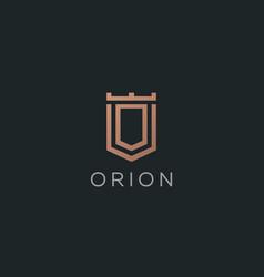 premium monogram letter o initials logotype vector image
