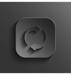 Refresh icon - black app button vector